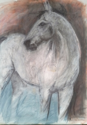 A1 charcoal and pastel